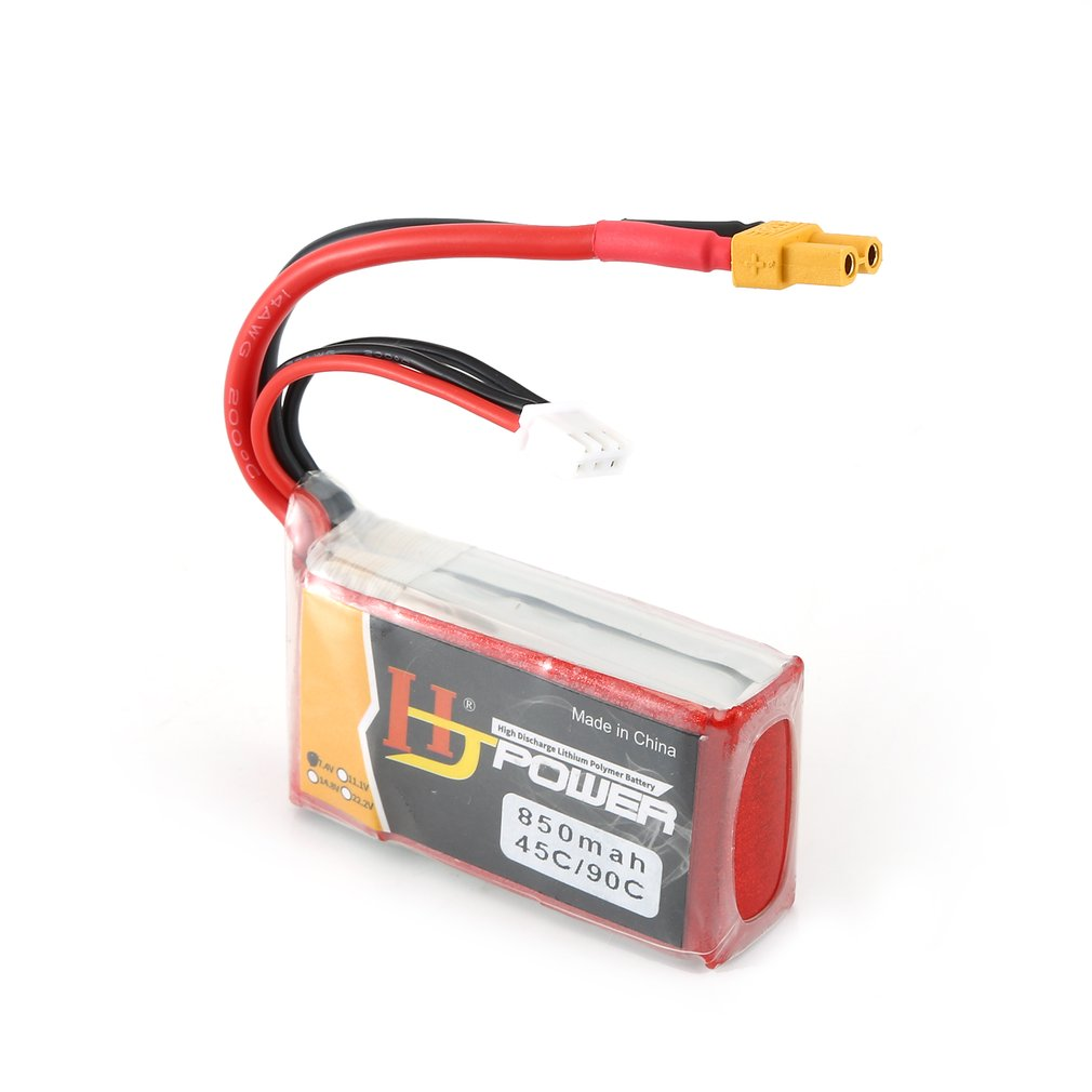 7.4V/11.1V 850MAH/1000MAH 45C 2S Lipo Battery XT30/JST Plug Rechargeable for RC Racing Drone Helicopter Car Boat Model image