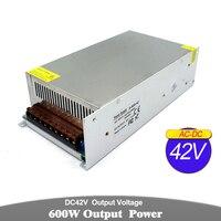 Single Output Switch power supply 42V 14.3A 600W Driver Transformer 110V 220V AC DC42V SMPS For CNC Stepper Motor Machinery