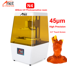New 3.5 LCD Touch Screen Anet N4 405nm DLP 3D Printer VU Resin Kit High Precision Print Size 120*65*138MM