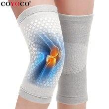 Turmalina auto aquecimento joelho suporte manga dot matrix aquecimento joelheiras almofadas para artrite alívio da dor articular e recuperação de lesões