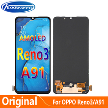 Original AMOLED Display For OPPO Reno3 4G 5G CPH2043 PCHM30 LCD Display Screen Touch Digitizer Assembly