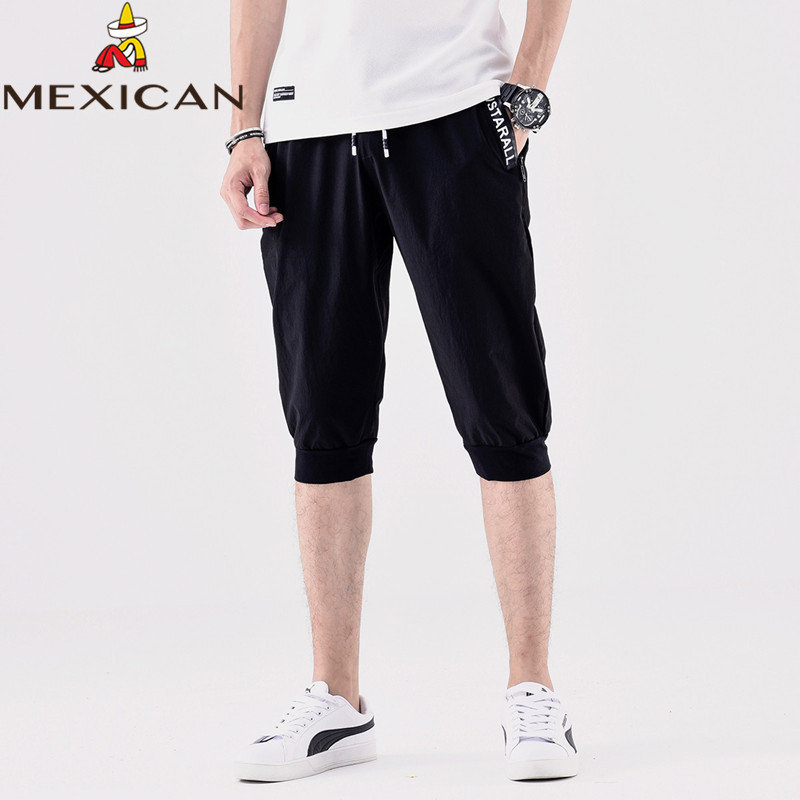 MEXICAN men's shorts men's new cropped pants breathable quick-drying casual shorts running casual pants men