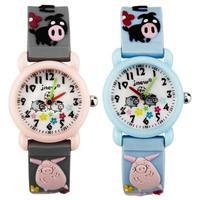 Fashion Children Watch Waterproof Quartz Watch Animal Pig Silicone Straps Kid Wristwatch for Boy Girl Cute Clock Montre Enfant