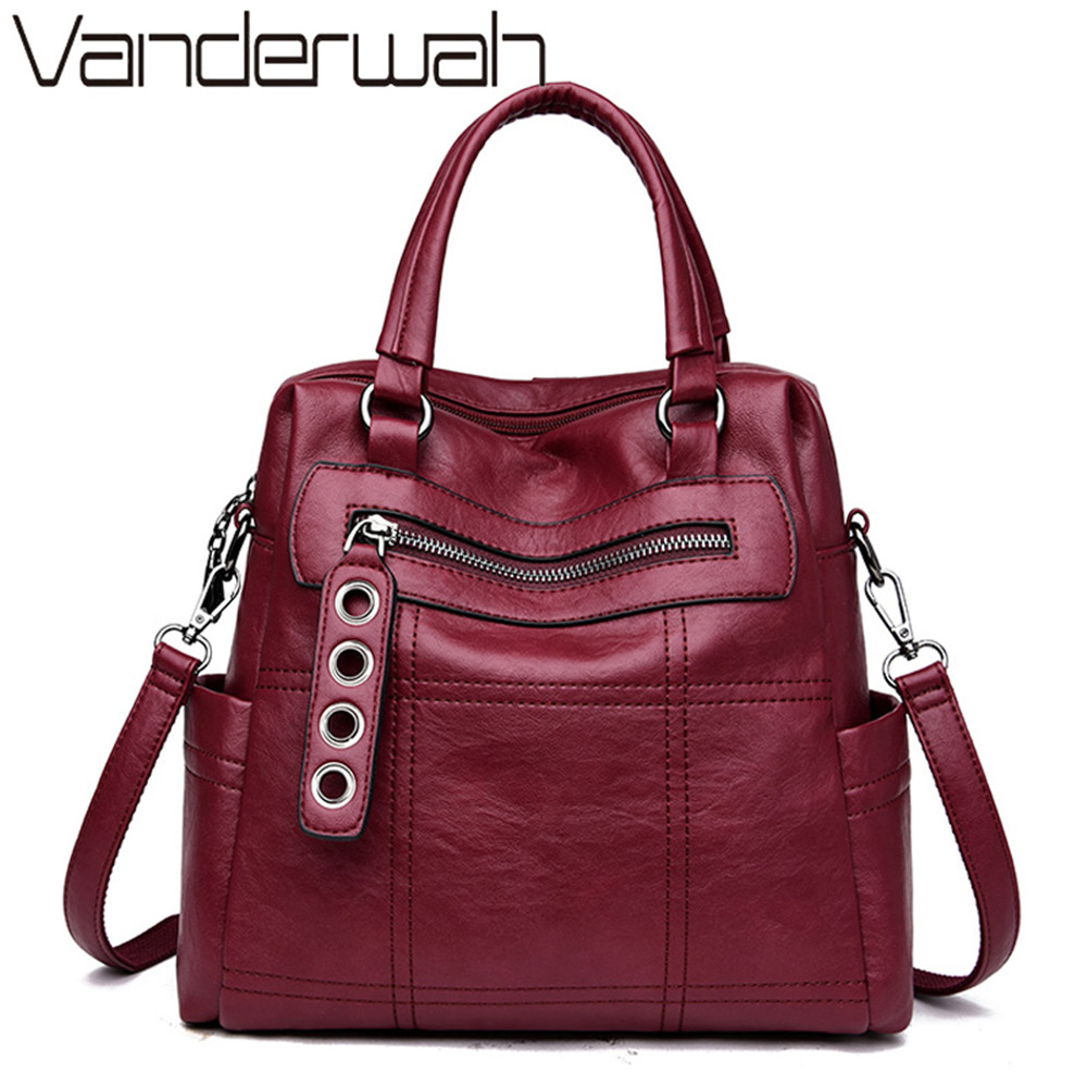 2019 Classic Women Backpack High Quality Youth Leather Backpacks For Teenage Girls Female School Shoulder Bag Bagpack Mochila