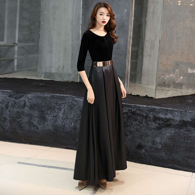 Banquet Evening Gown 2019 New Style Dignified Glorious Long Nobility Elegant Dress Small Dress Women's Slimming