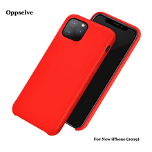 Oppselve Luxury Liquid Silicone Phone Cover For iPhone 11 & Pro Max Newest Microfiber Full protective Coque Capa