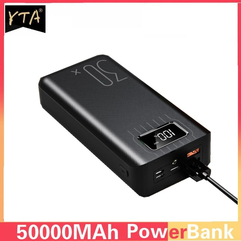 50000mAh Power Bank Portable Charging Poverbank Mobile Phone External Battery Charger Powerbank 50000 mAh for Xiaomi Mi