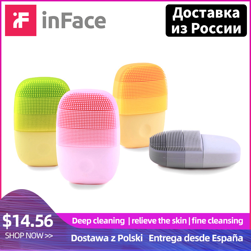 InFace Xiaomi Sonic Electric Facial Cleansing Brush Mijia Smart Waterproof Silicone Massage Wash Face Care Cleaner Rechargeable-in Powered Facial Cleansing Devices from Home Appliances