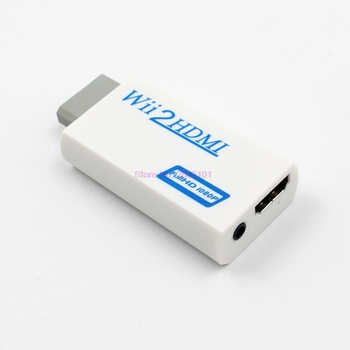 by dhl/fedex 100pcs High Quality Full HD HDMI 1080P Wii to HDMI Wii2HDMI Wii to HDTV Converter Adapter With 3.5 mm Audio Output