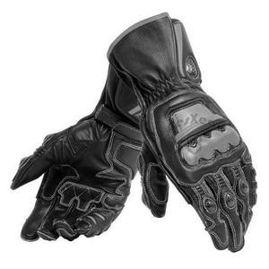 Image 3 - New 4 Colors 100% Genuine Leather Dain Full Metal 6 Motorcycle Gloves Racing Long Gloves Driving Motorbike Cowhide Gloves