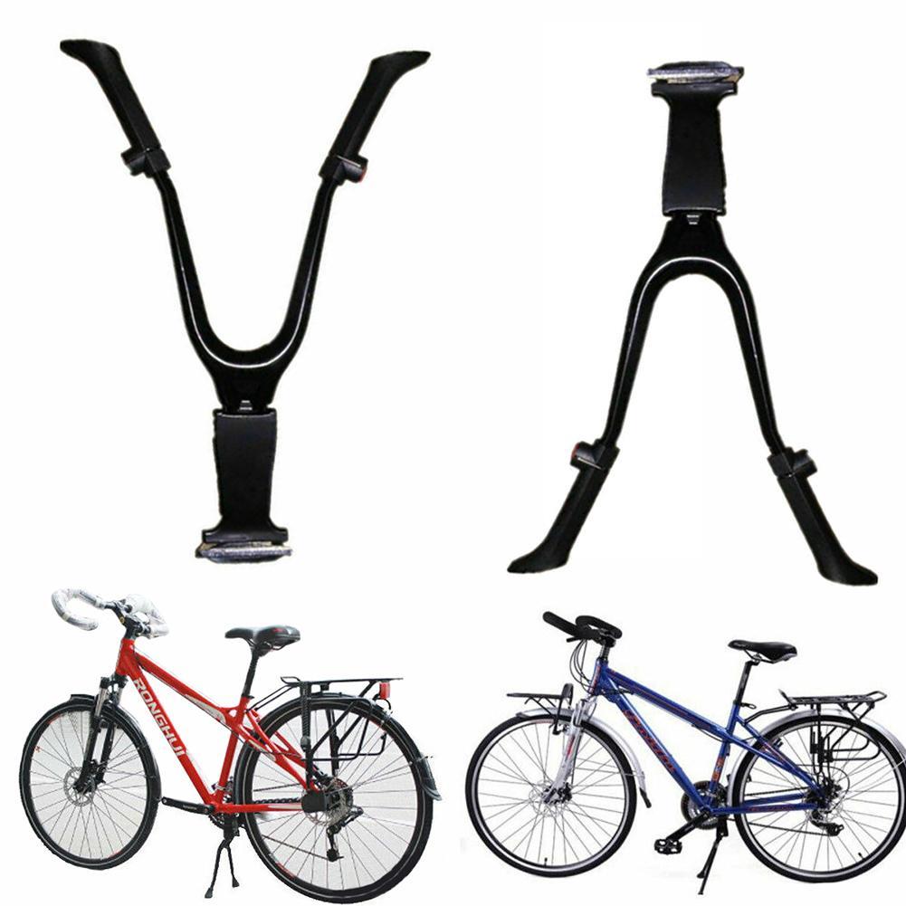 Bike Kickstand Center Mount Bicycle Stand Length Adjustable Foldable Double Leg