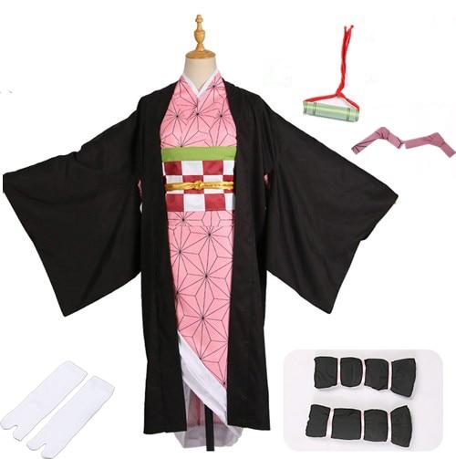 Лидер продаж; Новинка; аниме «Demon Slayer: Kimetsu no Yaiba»; Косплей; Kamado Nezuko; женская японская одежда; костюм для косплея - Цвет: package  A