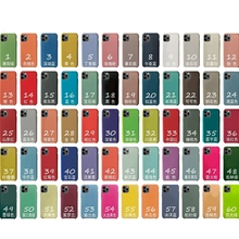 With LOGO Official Silicone Case For iphone