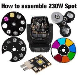 Spot 230W lampy z ruchomą głowicą części kolor Gobo Wheel LED Chips Prism SHEHDS w Oświetlenie sceniczne od Lampy i oświetlenie na