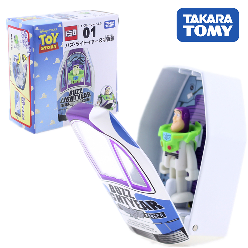 TOMICA TOY STORY 01 BUZZ LIGHTYEAR & SPACECRAFT DISNEY TAKARA TOMY Diecast Metal Model In Toy Vehicle Collection Gift Kids Toys