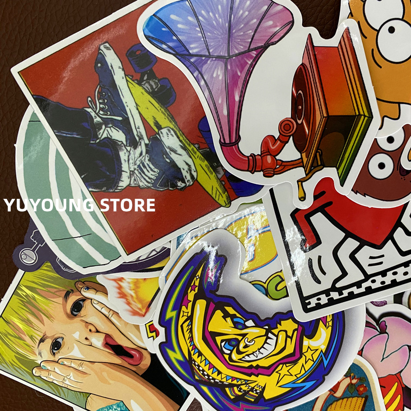 50pcs free shipping laptop Graffiti Stickers For Notebook Motor Skateboard Computer Mobile Phone Cartoon Toy Styling DIY Decal