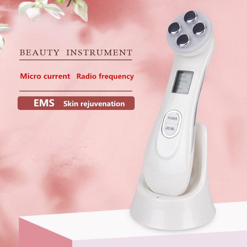 Где купить Электропорация мезотерапия светодиодная фотонная светотерапия RF EMS омоложение кожи подтяжка лица Подтяжка кожи массаж красоты машина