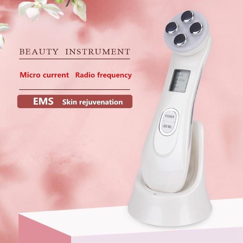 Electroporation Mesotherapy LED Photon Light Therapy RF EMS Skin Rejuvenation Face Lifting Tighten Skin Massage Beauty Machine