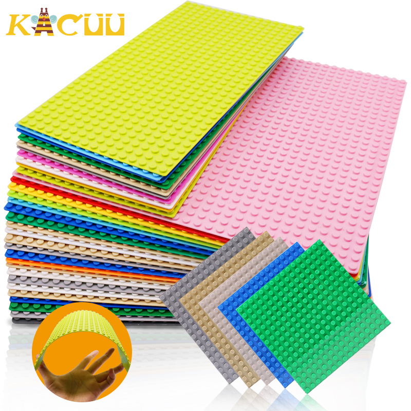 4 Size 33 Styles Plastic Assembly Blocks Base Plates Figures City Classic Toys Building Blocks Baseplates Toys For Children Gift 1