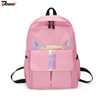 Teenager School Bags for Girls with Cats Backpack School Bag Women Bookbags Student Teen Colorful Cartoon Schoolbag Large colorful unicorn students backpack cartoon panda children school bags backpack for teenager girls book bag women laptop backpack