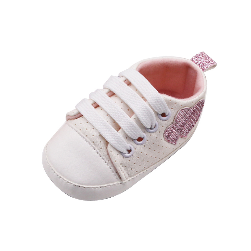 Infant Canvas Soft Sole Anti-Slip Prewalker Toddler Crib Shoes Love Print Sneaker