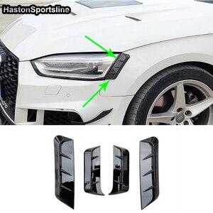 Image 4 - A5 B9 z przodu powieki tylna lampa brwi dla Audi A5 B9 2017 2018 2019 4 sztuk samochodów stylizacji
