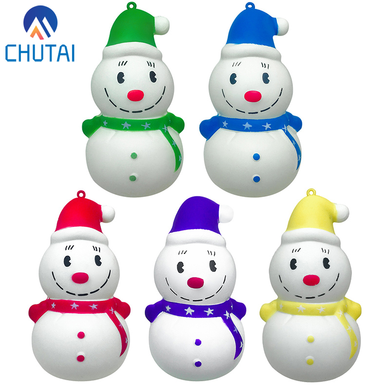 Cute Snowman Squishy Slow Rising Squeeze Toys Soft Stretchy Scented Stress Relief Toy Xmas Decor Gifts 12*6 CM