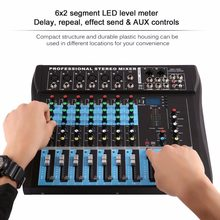 CT8 8 Channel Professional Stereo Mixer Live USB Studio Audio Sound Console Network Anchor Device Vocal Effect Processor ONLENY(China)