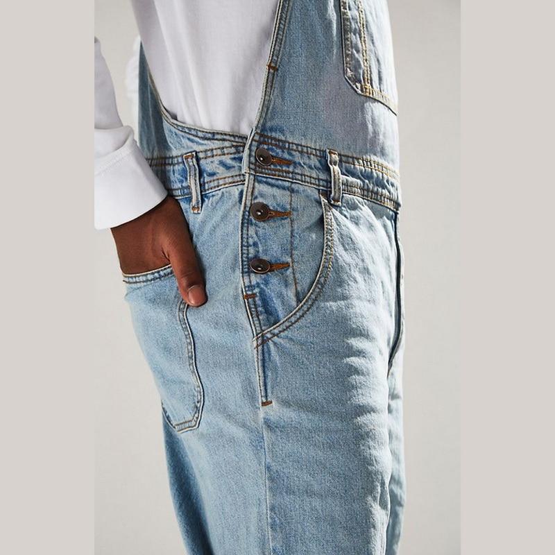 MONERFFI For Man Suspender Pants Men's Jeans Jumpsuits High Street Distressed 2020 Autumn Fashion Denim Male Plus Size S-3XL 5