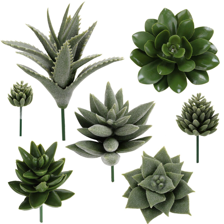 7pcs Artificial Succulent Artificial Plant Faux Succulent Artificial Plants Flower For Home Office Garden Decoration Accessories