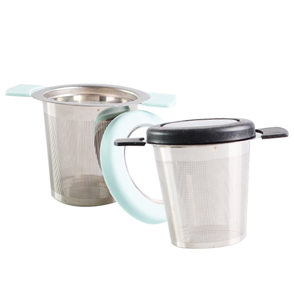 Reusable Stainless Steel Mesh Tea Infuser Silicone Handle Tea Compartment Strainer Filter Leaking Tools Tea Maker Accessories