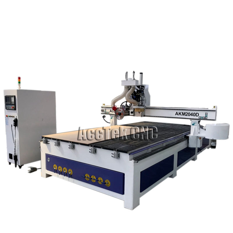 ACCTEK Rotary Auto Tool Change Wood Engrave чпу станок, HSD Air Cooling Spindle ATC CNC Machine With Servo Motor
