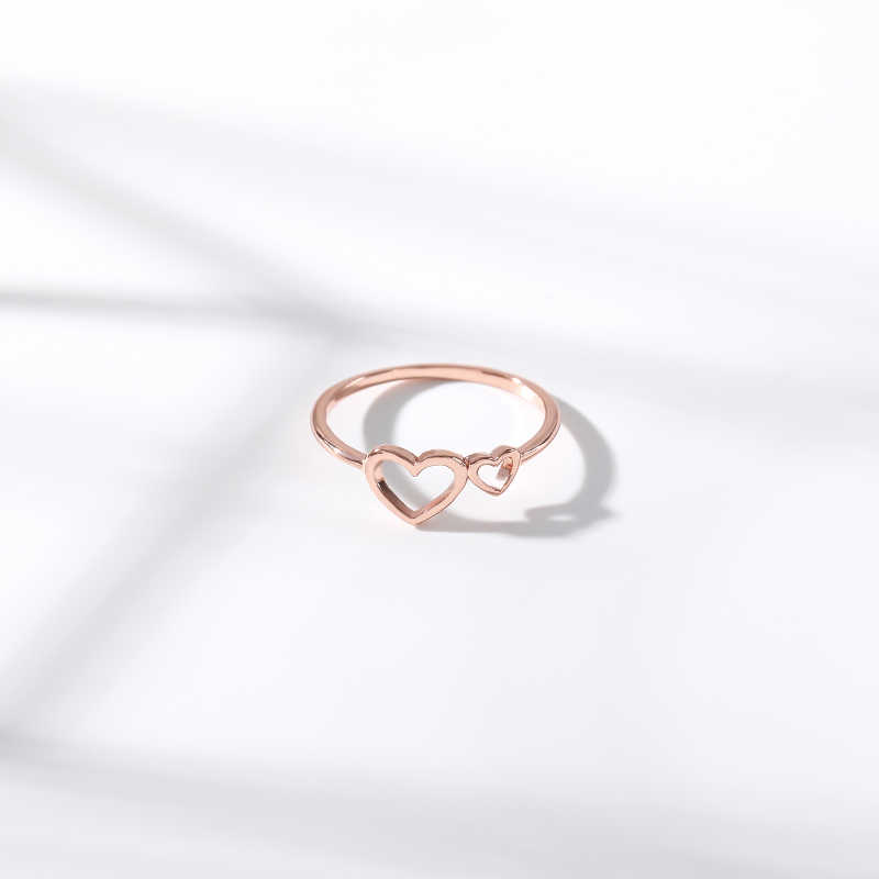 Romantische Hollow Out Hart Ringen สำหรับ Mannen ผู้หญิงเปิดวัยรุ่นแหวน Gouden แหวน Paar ของขวัญ Sieraden อุปกรณ์เสริม BFF
