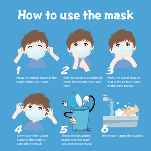 Image 5 - Fast Delivery Disposable Face Masks  3 Layers Nonwoven 50 PCS Elastic Soft Anti fog Breathable Face Masks Protection against