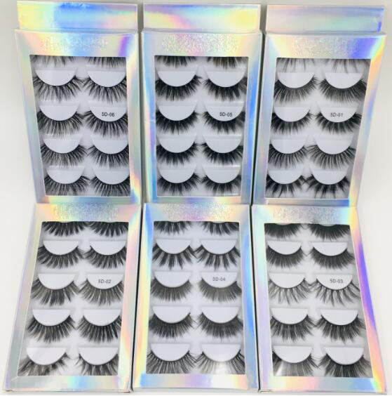 5 Pairs Individual Mink Eyelashes 3d Mink Hair Lashes Bulk Pack 3d Mink Lashes Wholesale With Custom Box Natural Short Wispy