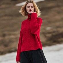 Женский пуловер вязаный 100% кашемировый Повседневный толстый