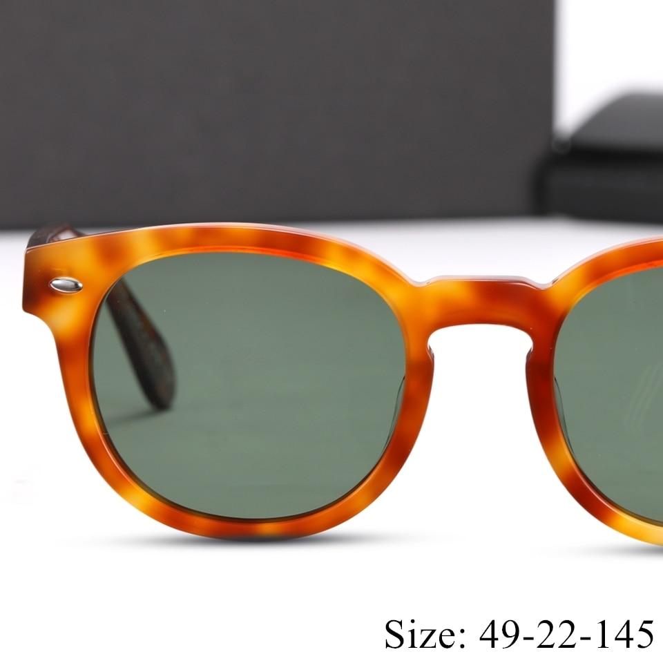 Vintage Quality Retro Round UV400 Polarized Sunglasses 5036 Sheldrak Imported Acetate Sunglasses Style Fashion Original Box Case