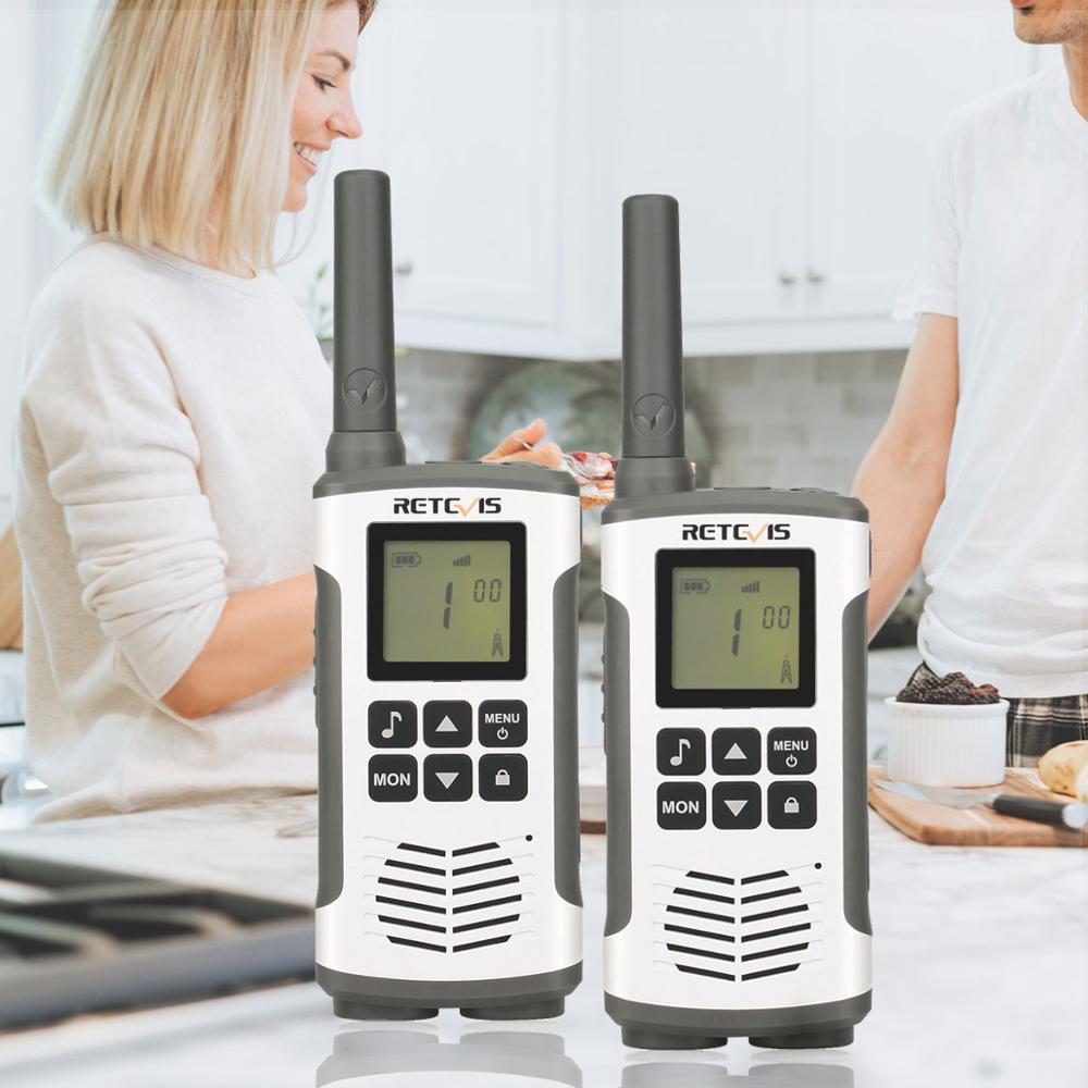 Retevis RT45 PMR Radio Emergency Mini PMR Walkie Talkie 2 Pcs Family Use  PMR446 FRS Two-Way Radio Camping/Huntng Walkie-Talkie