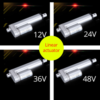 цена на Metal gear electric Linear actuator 12V 24V 36V 48V linear motor moving distance stroke 50mm 100mm 150mm 200mm 250mm 2.5A max