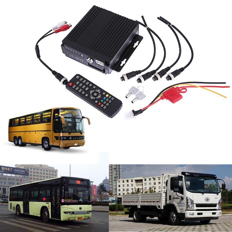 SW-0001A SD télécommande HD voiture DVR 4CH en temps réel enregistreur vidéo pour Bus camion RV Mobile 4CH voiture DVR SD MDVR Dash caméra 128 gb