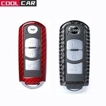 Car Accessories Carbon Fiber For Mazda Key Case Cover 2 3 6 Axela Atenza CX 5 CX5 CX 7 CX 9 2015 2016 2017 Smart 2/3 Buttons
