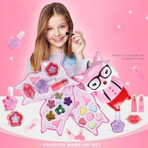 Image 2 - 子供のおもちゃセットふりプレイ王女ピンクメイク美容安全非毒性キットのおもちゃ女の子ドレッシング化粧品ガールギフト