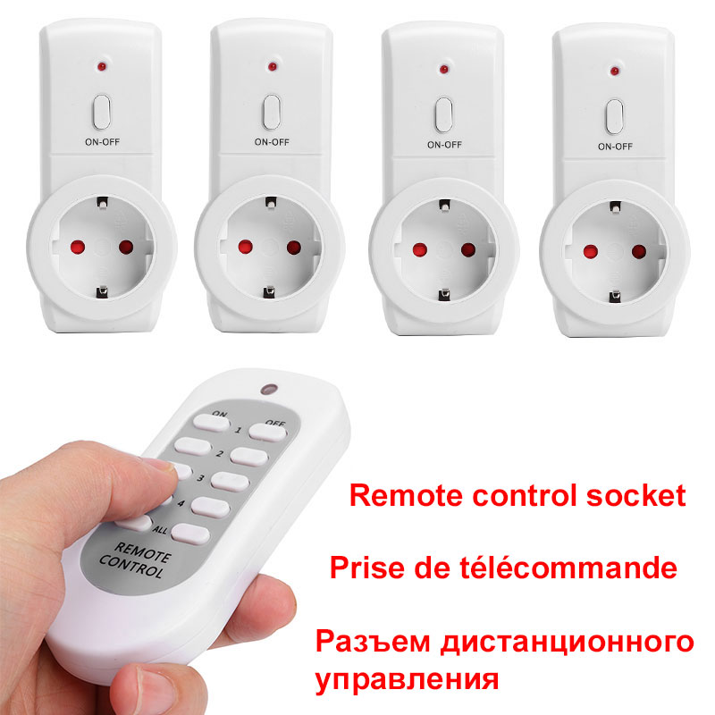 French EU Plug Classic Colors and Simple Durable Design House Power Outlet Light ON/OFF Switch Socket Wireless Remote Control|Electrical Sockets| - AliExpress