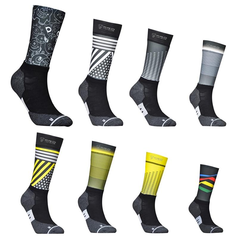 New Fiber Fabric Cycling Socks Professional Bike Team Aero Socks High Quality Road Bicycle Anti Slip Compression Sport Sock