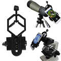 Soporte Universal para microscopio telescopio adaptador para iPhone 7 6S soporte de teléfono inteligente de aleación
