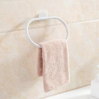 Okrągły wieszak na ręcznik ABS uchwyt na ręczniki wieszak na ręczniki organizator do łazienki i kuchni wiszące wieszak na ręczniki stojak do przechowywania siebie wieszak na ręczniki akcesoria łazienkowe tanie i dobre opinie Z tworzywa sztucznego D1298 Pierścienie ręcznik Lakierowane