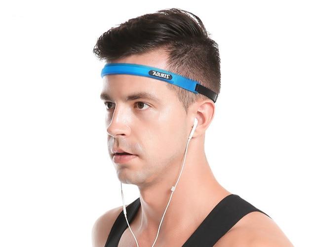 AOLIKES Men Women Sports Hair Bands Elastic Pilates Yoga Silicone Guiding Belt Sweat Head Band Headwear 2