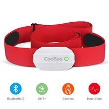Coospo-Monitor de ritmo cardíaco, correa de pecho roja, Sensor inalámbrico BLE4.0 ANT + para Polar Wahoo Garmin Zwift Endomondo IpBike FITIV