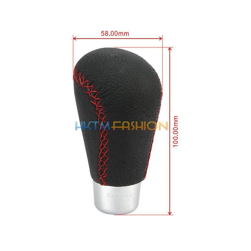 MANUAL GEAR GAITER BLACK LEATHER RED STITCHING