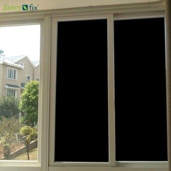 Pellicola per vetri oscuranti FANCY-FIX, controllo del calore della Privacy glassato adesivo tutto in vetro nero, 100% vinile UV chiaro per finestre larghezza 75cm